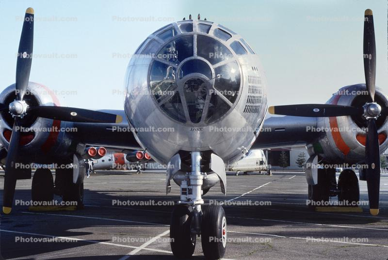 Boeing B-29 Superfortress, Travis Air Force Base, California, head-on
