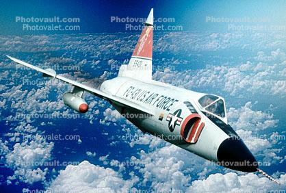 F-102A Delta Dagger, milestone of flight, 1950's