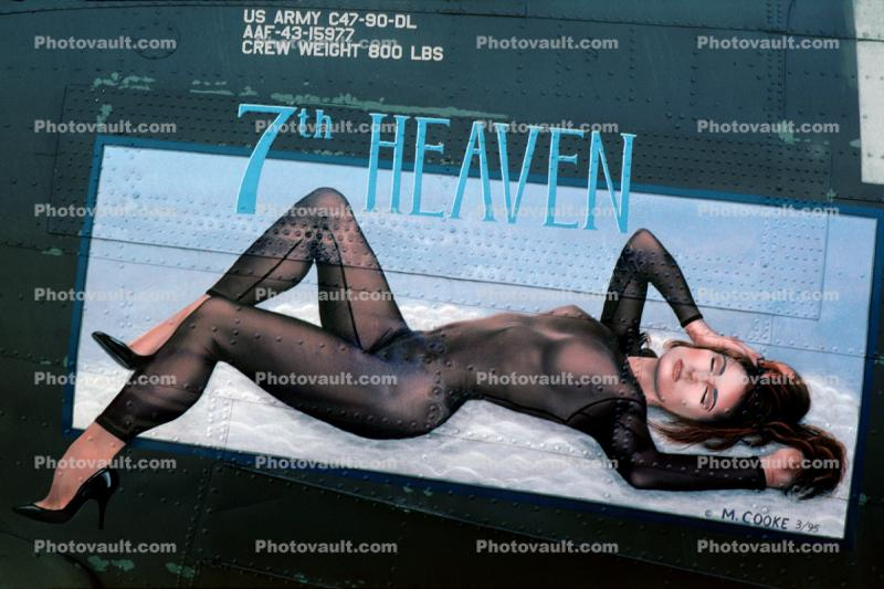 7th Heaven, Nose Art, Catsuit, noseart