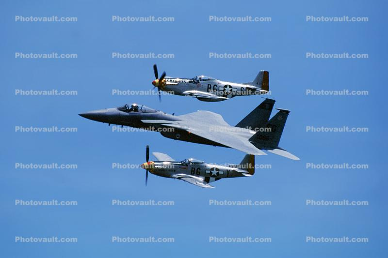 P-51D Mustang, F-15E Strike Eagle, USAF, Heritage flight