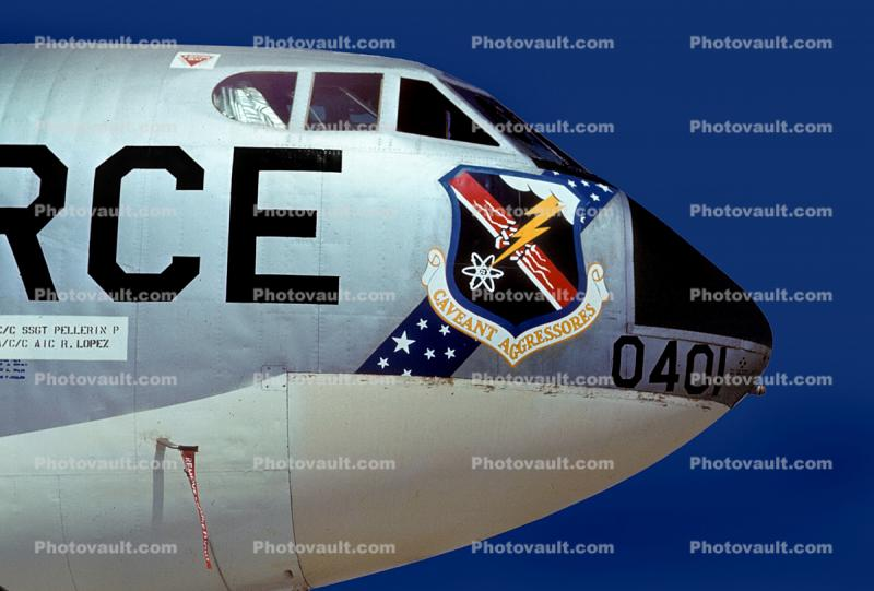 Caveant Aggressores, 0401, Boeing B-52 Stratofortress, Shield, insignia, emblem, USAF, United States Air Force