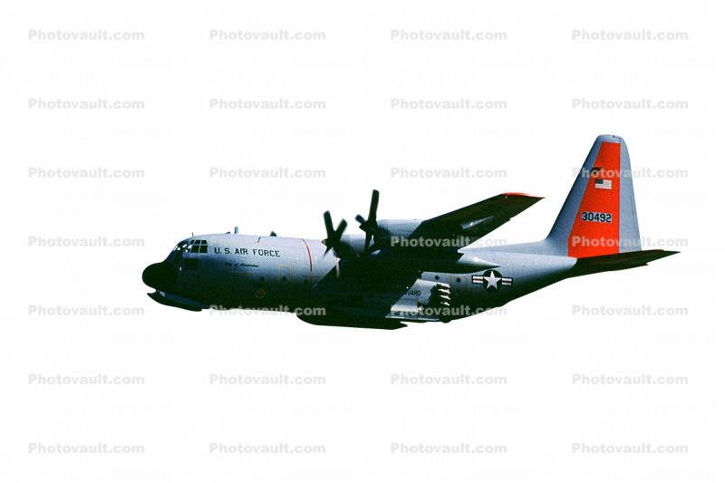30492, Lockheed C-130 Hercules w JATO pack, New York Air Guard, skis, photo-object, object, cut-out, cutout