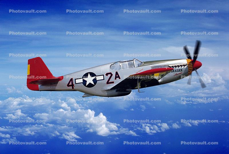 Tuskegee Airmen, North American P-51C Mustang, Red Tail Angels, milestone of flight
