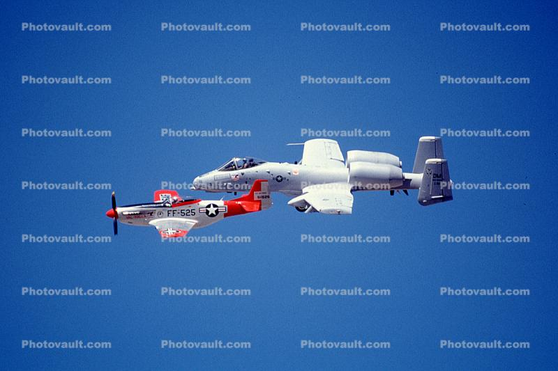 North American P-51 Mustang, A-10 Warthog, Heritage Flight