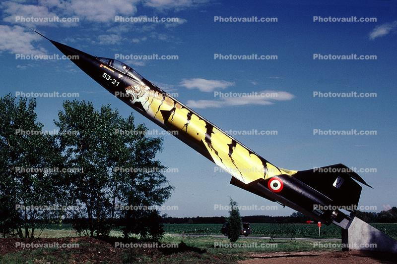 53-21, Lockheed F-104G Starfighter, Tiger Stripes, Cameri Italy