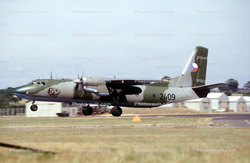 2409, Antonov AN-26 military transport aircraft, taking-off, Czech Republic Air Force