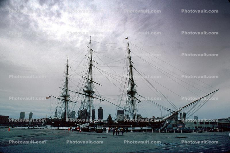 Boston Harbor, Charleston Navy Yard, Harbor, Rigging, Mast, USS Constitution