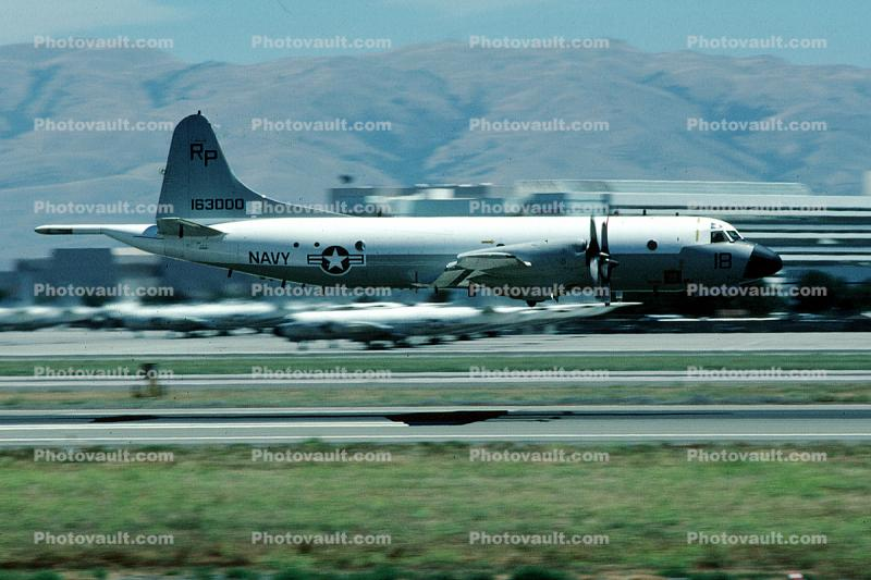 163000, Lockheed P-3C Orion Flying Low, LL-000 VP-30