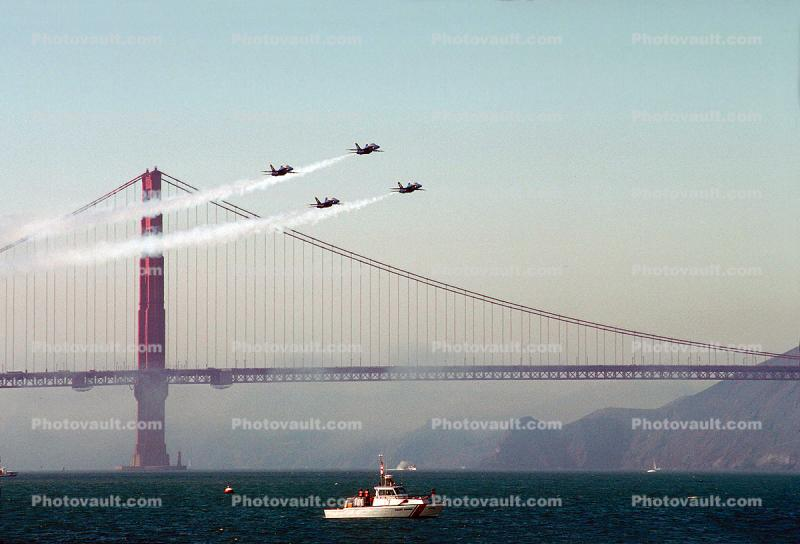Golden Gate Bridge, McDonnell Douglas F-18 Hornet, Blue Angels