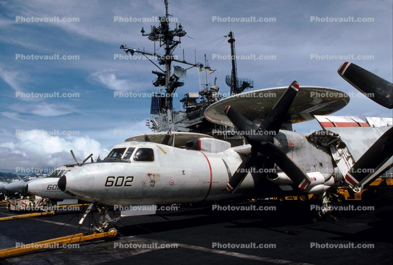 Grumman E-2C Hawkeye, NE-602, 163027,  VAW-116 ' Sun Kings ' , Harbor