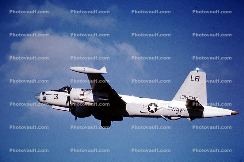 VP-7, LB 3, Lockheed SP-2A Neptune, milestone of flight, 135590, USN