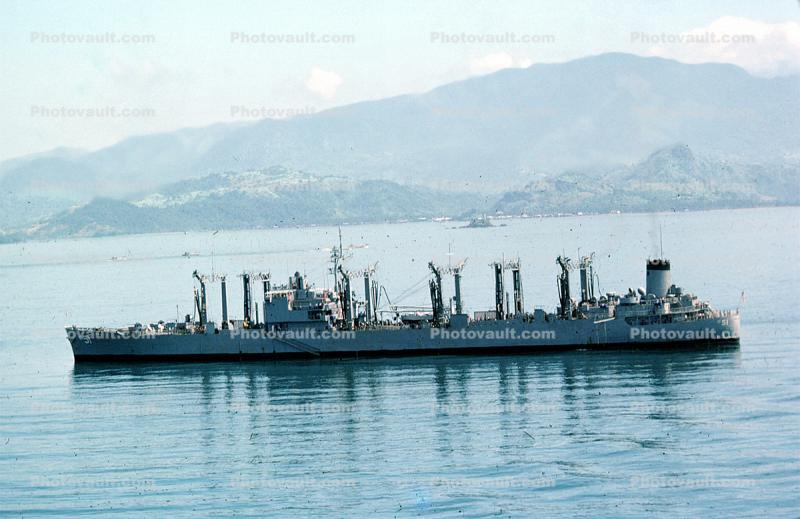 US Naval Ship USS ASHTABULA AO 51 USN Navy Photo Print