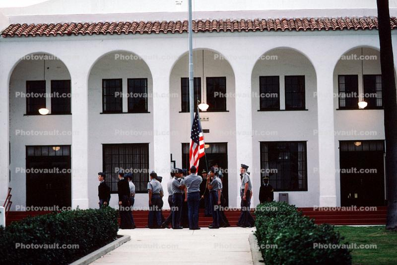 Color Guard, Military School building, teens, boys