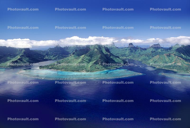 Clouds over the Island of Moorea