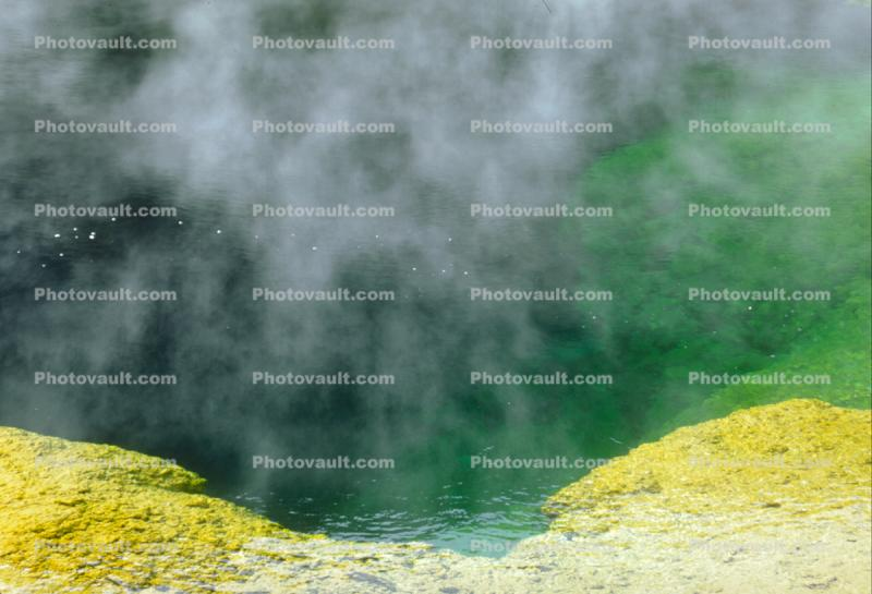 Hot Spring Steam rising, Geothermal Feature, activity, Hot Spring, Extremophile, Thermophile
