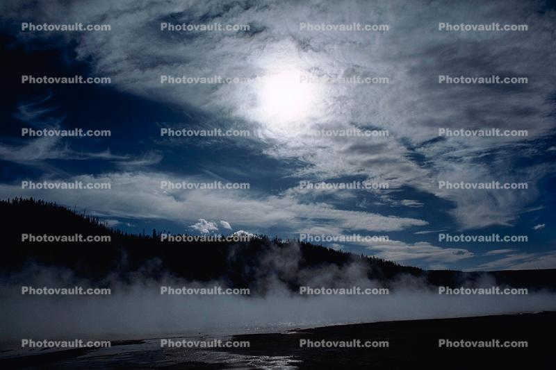 Hot Spring, Geothermal Feature, activity, steam, hill