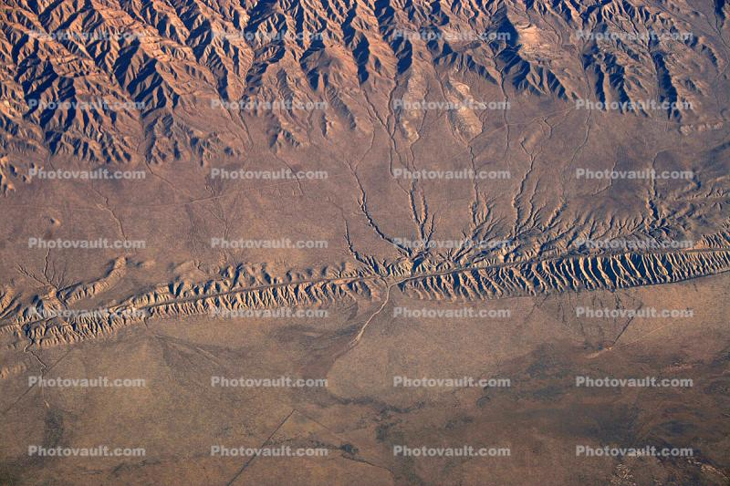 San Andreas Fault, faultline, Temblor Range, mountains, summertime, Fractal Patterns