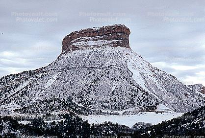 Butte, snow, ice, cold