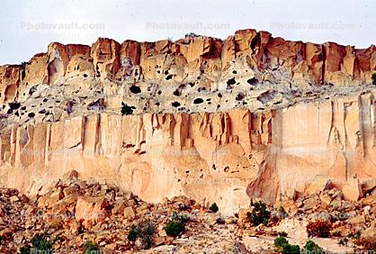 Bandelier National Monument, Cliff Dwellings, Cliff-hanging Architecture