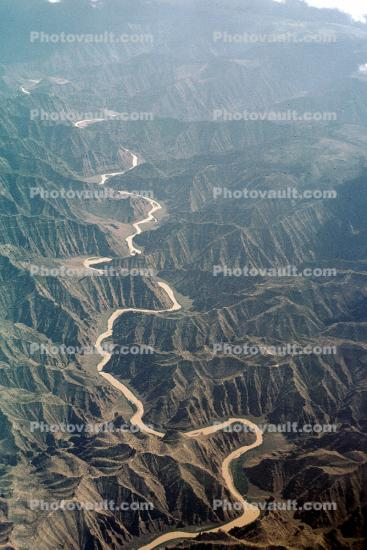 meandering river, meander, Fractal Patterns