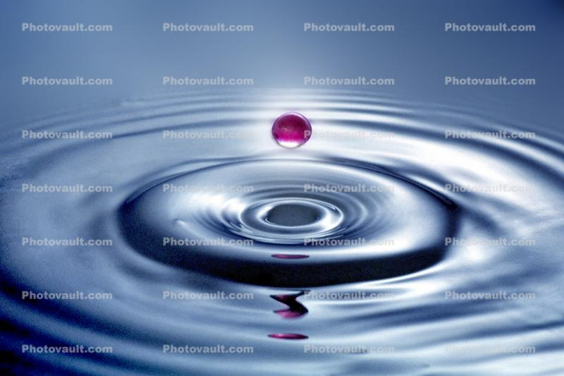 Water Drop, Concentric Rings, Droplet, Wet, Liquid Drip, Ripples, wave propagation, Wavelets