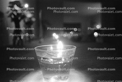 Floating Candle in water