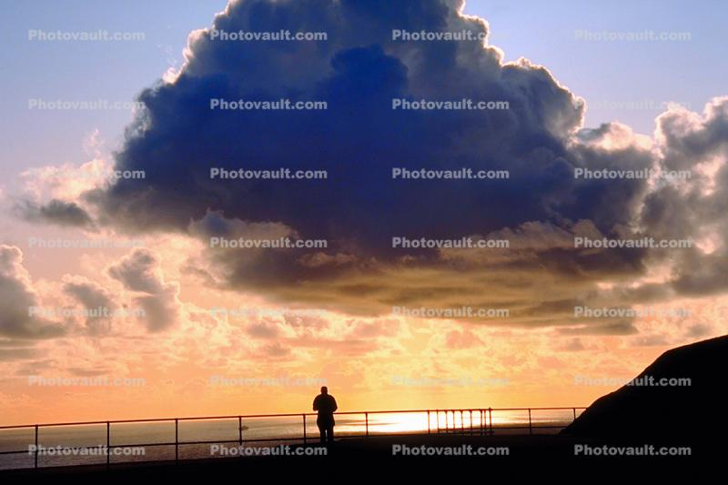 In the Spirit of Light, Lone and peaceful, Golden Gate Overlook, Cloud Sunset, Marin Headlands, Equanimity