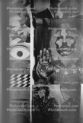 MY Room, Boys bedroom, 1960s, San Diego, California, Loma Portal, Posters, psyscape