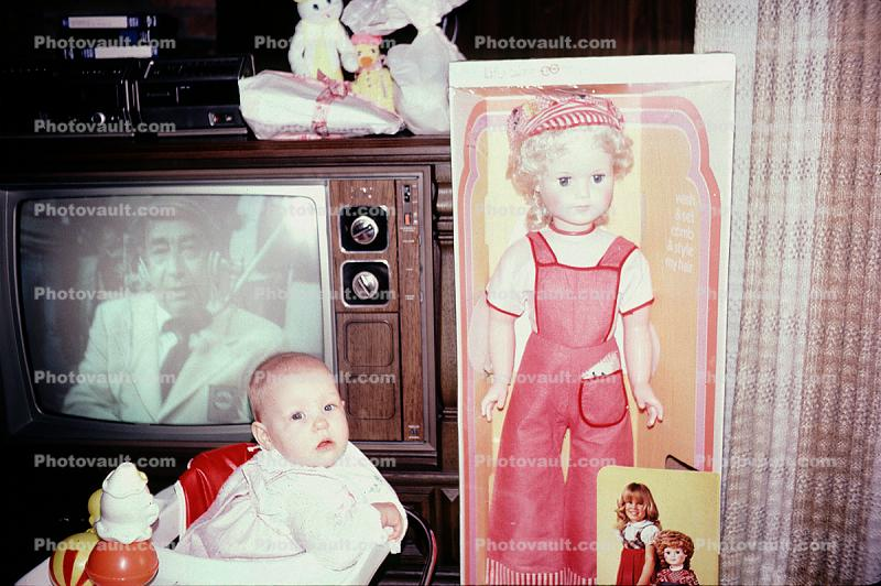 Howard Cosell on Television, TV, Dolls, Baby, toddler, September 1980