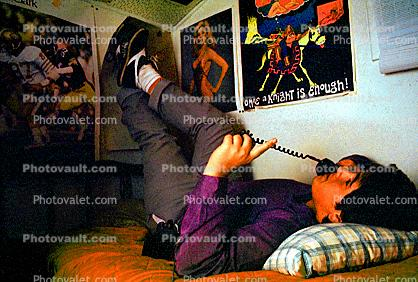 Dial Phone, Chatting, Teen, Teenager, Boy, Male, Guy, Dial, Rotary, Phone