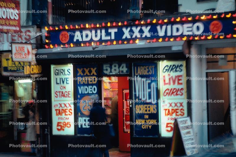 Adult xxx video store