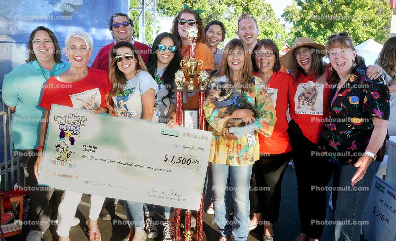 1st Place Check, World's Ugliest Dog Contest, Sonoma-Marin Fair, 21/06/2019