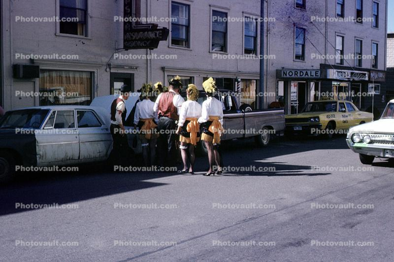 Pioneer Days, Fairbanks Alaska, cars, taxi, Nordale Hotel, August 1968, 1960s