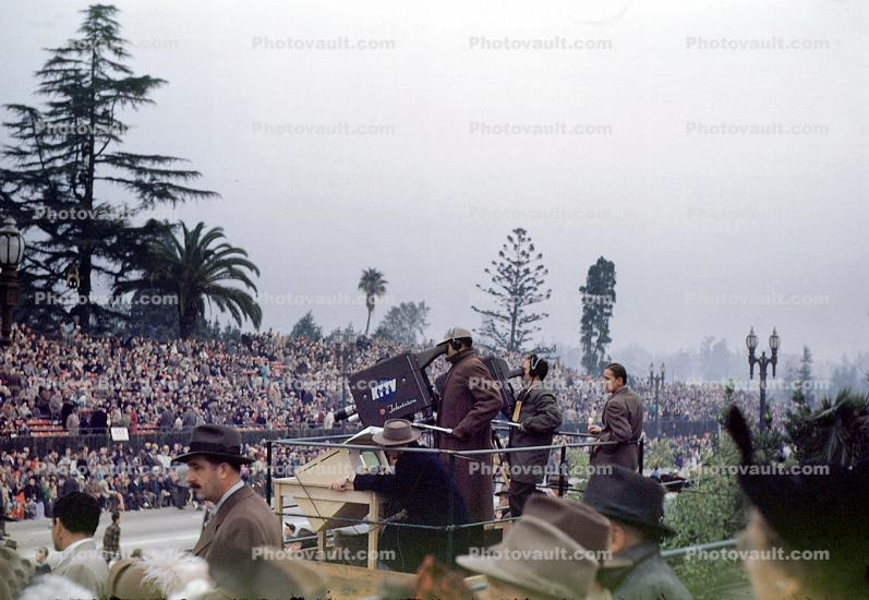 Live Video Crew, Camera, Rose Parade, KTTV, 1950, 1950s