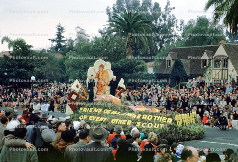 Equality of Youth, Rose Parade, BSA, Boy Scouts, 1950, 1950s