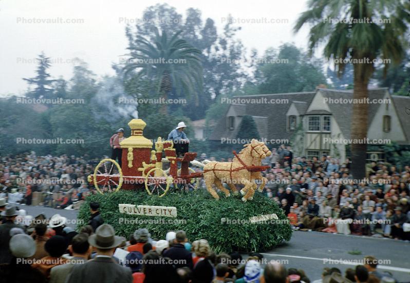Steam Fire Engine, Pumper, Horses, Rose Parade, Horse-drawn Steam Pumper, Pump, Culver City ...