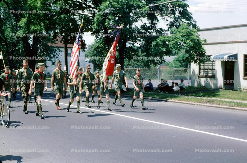 Boy Scouts Color Guard, June 1965, 1960's