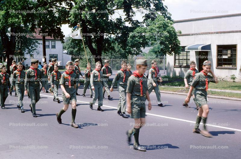 Boy Scouts Marching, June 1965, 1960's