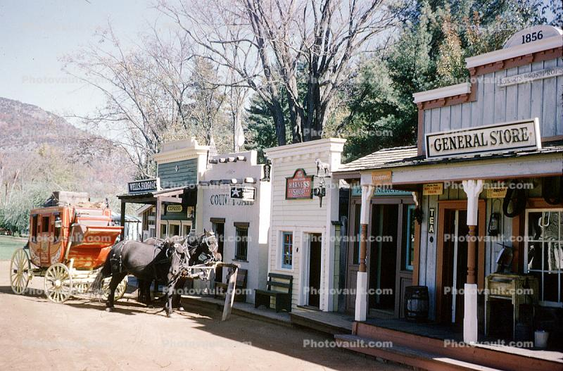Old Time Western Town Stage Coach General Store Land Of Make