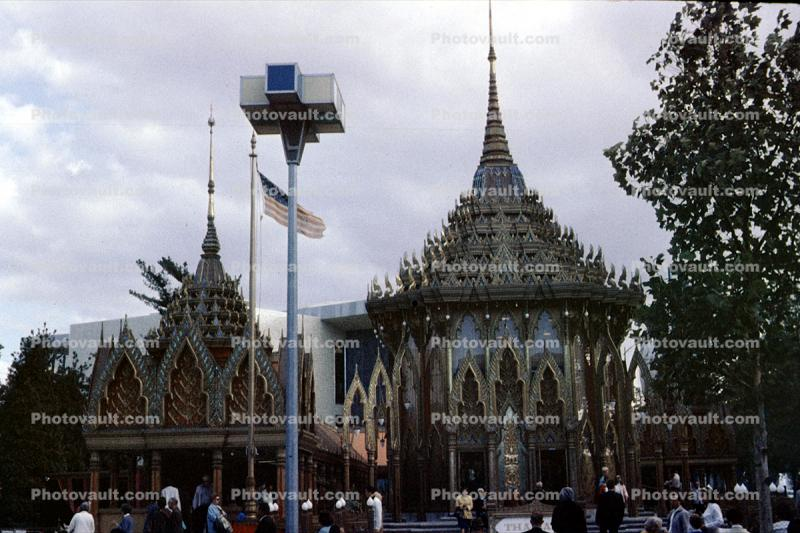 Thailand Pavilion, New York Worlds Fair, 1964, 1960's