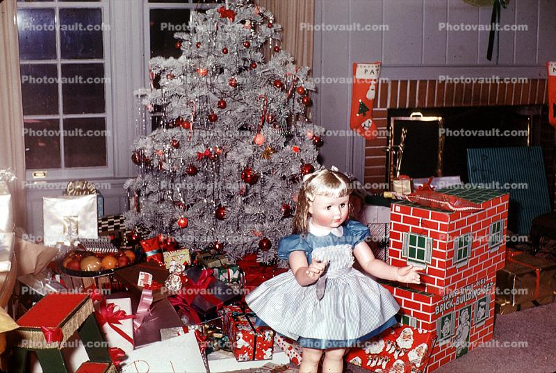 Doll, Dollhouse, Presents, Decorations, Ornaments, Tree, 1940s