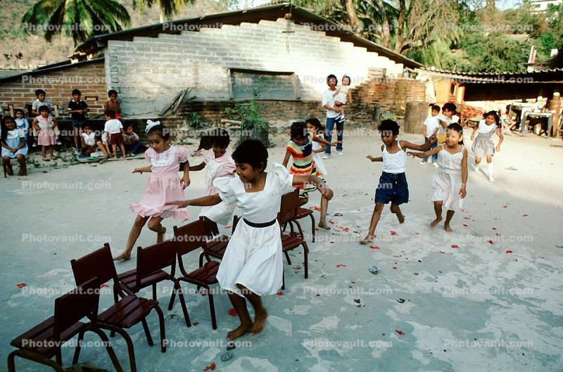 musical chairs, Elementary School, Yelapa, Mexico