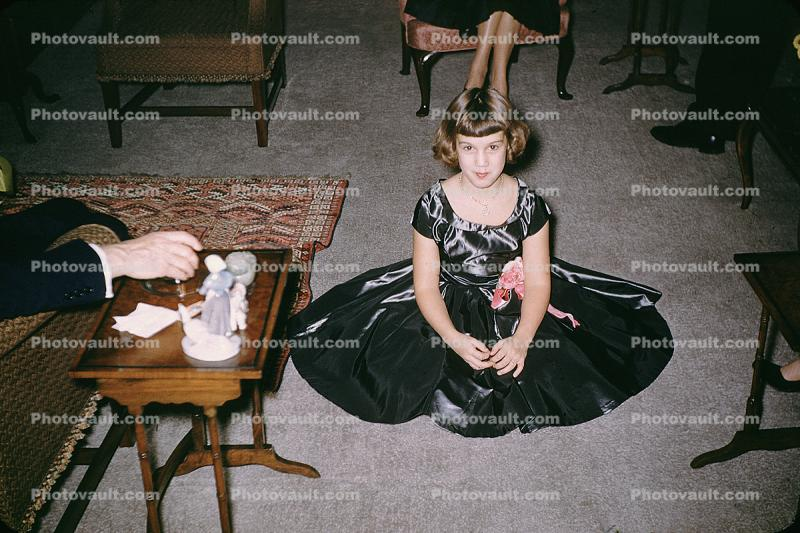 Barabra, Girl with a black dress, Thanksgiving Day, 1954, 1950s