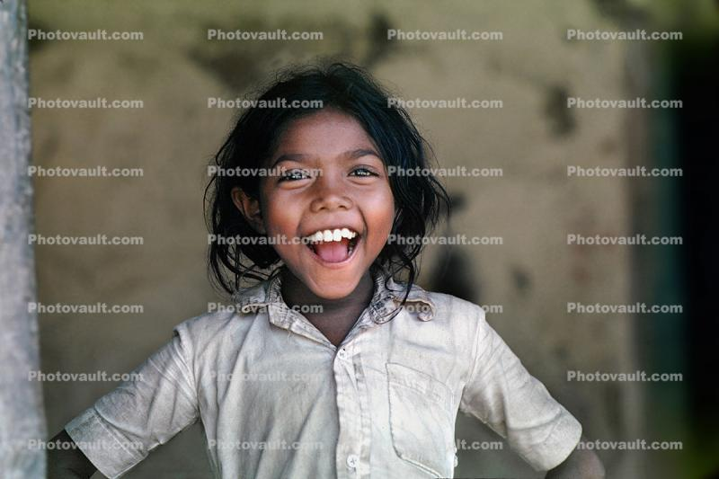 Laughing Girl, happy, female, Face