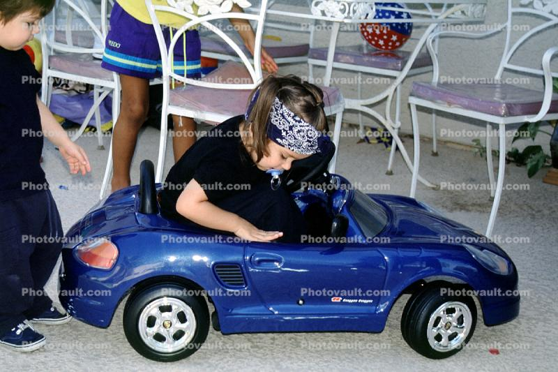 Pedal Car, toy, girl