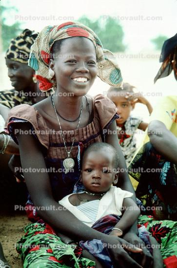 Mother and Daughter at a Well Baby Clinic