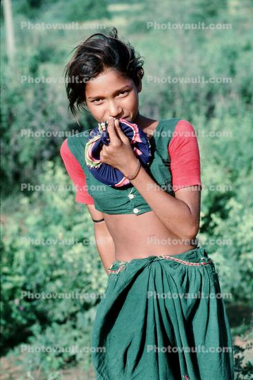 Girl, Female, Sari, near Ahmedabad
