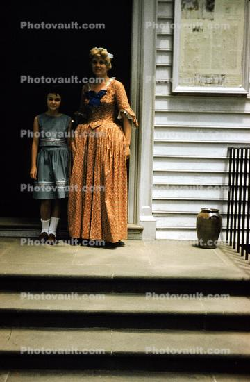 Colonial Woman, Dress, Costume, 1950s
