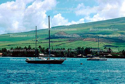 Maui Hills, Harbor, Clouds