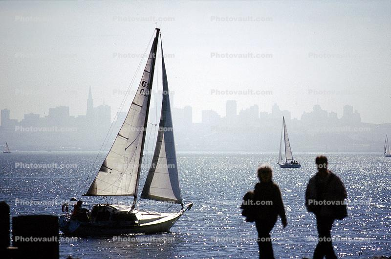 The view of SF Skyline from Tiburon